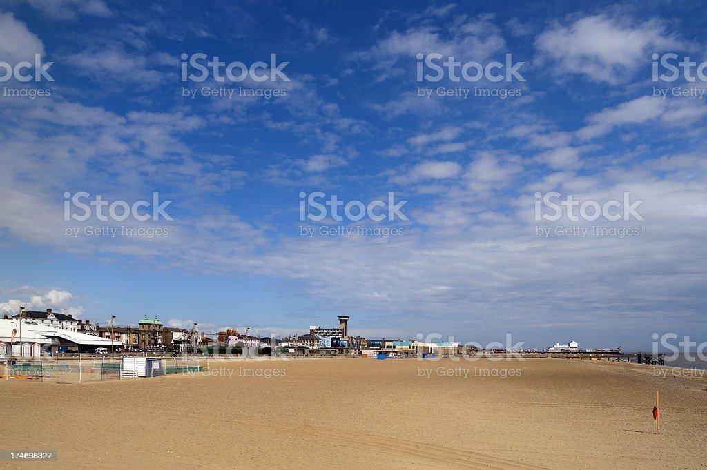 Great Yarmouth beach and jetty stock photo