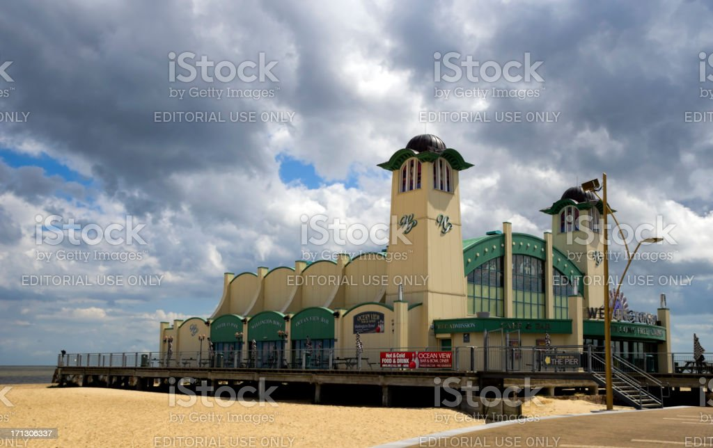 Great Yarmouth Wellington Pier theatre stock photo