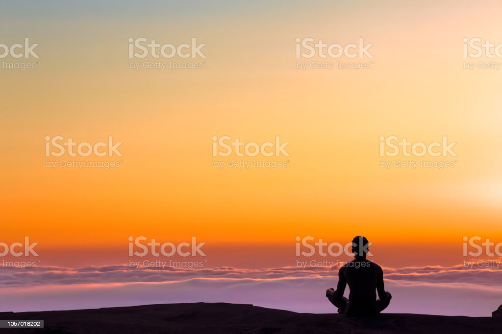 Greated idea with Mindfulness meditation 3D work stock photo
