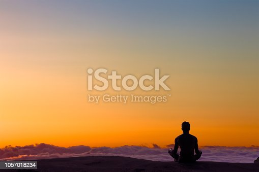 istock Greated idea with Mindfulness meditation 3D work 1057018234
