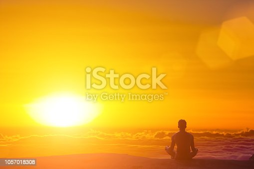 istock Greated idea with Mindfulness meditation 3D work 1057018308