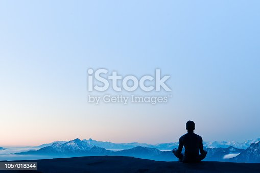 istock Greated idea with Mindfulness meditation 3D work 1057018344