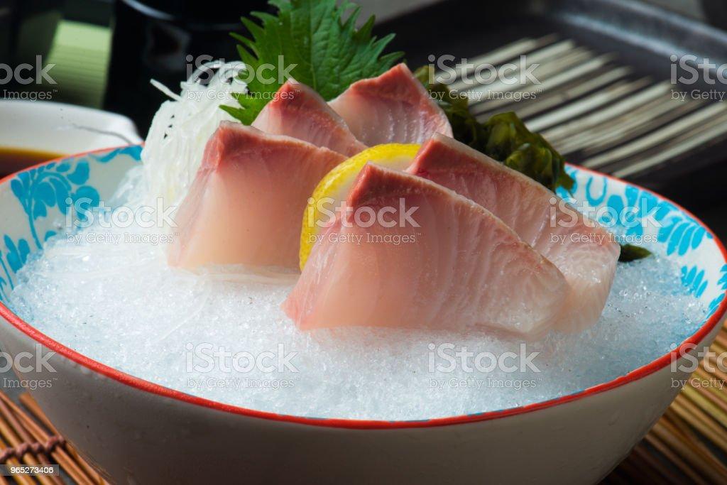 Greater Amberjack Kanpachi  Sashimi sushi zbiór zdjęć royalty-free