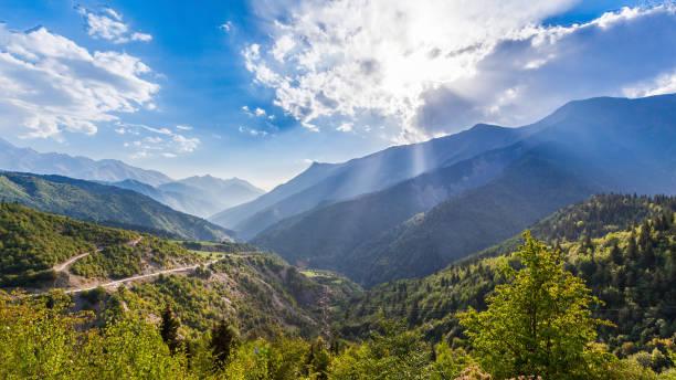 Greater Caucasus mountains stock photo