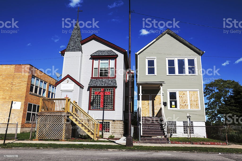 Greater Emmanuel Missionary Baptist Church, Fuller Park, Chicago royalty-free stock photo