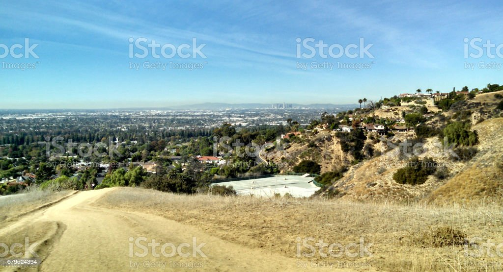 Greater Los Angeles as seen from L.A. County stock photo