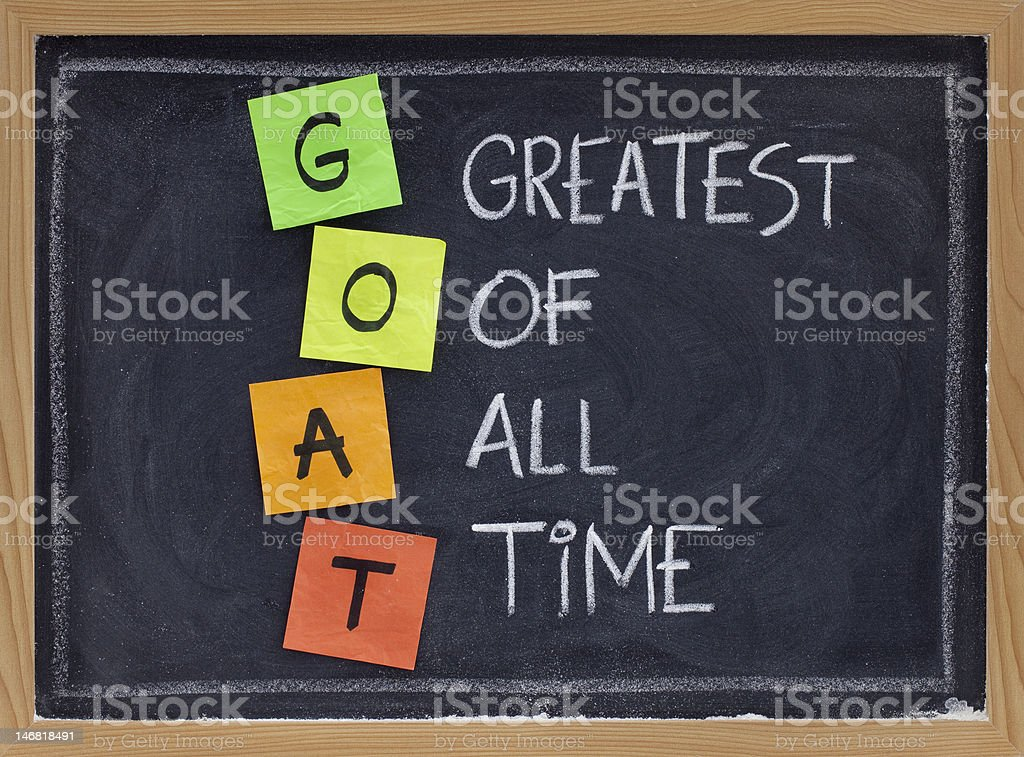greatest of all time - GOAT acronym royalty-free stock photo