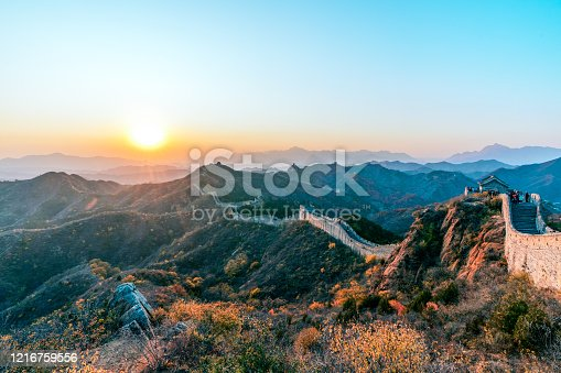 istock Greatwall in sunset 1216759556
