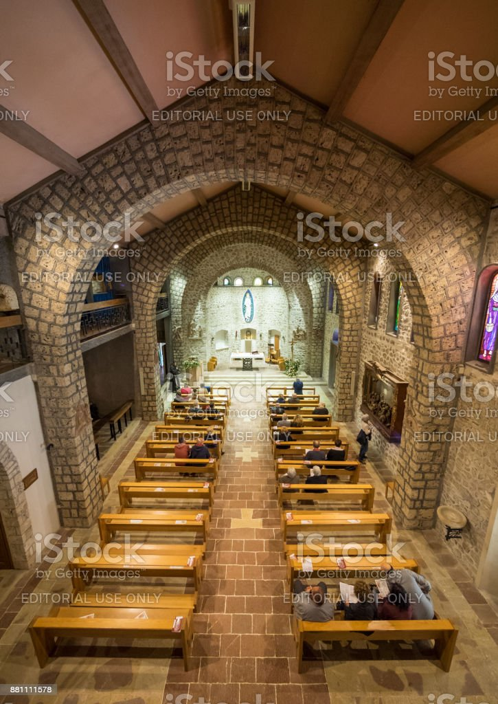 Greccio (Rieti, Italy) stock photo