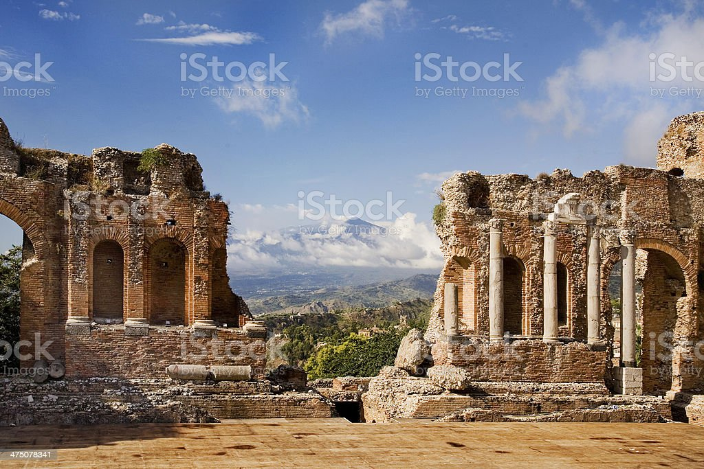 Greco-Roman amphitheatre royalty-free stock photo