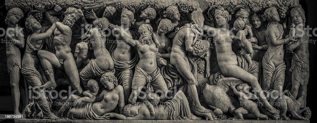 Greco-Roman marble sarcophagus royalty-free stock photo