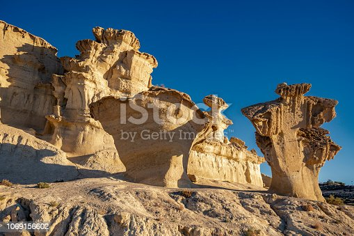 Gredas of Bolnuevo eroded rock formations in Murcia Spain