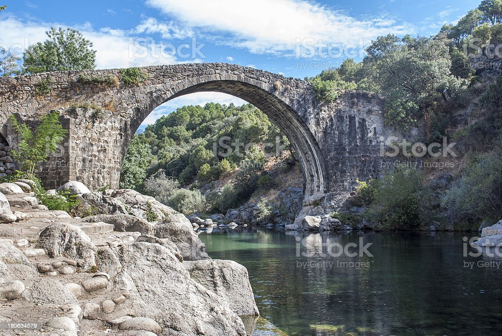 Gredos river pools royalty-free stock photo