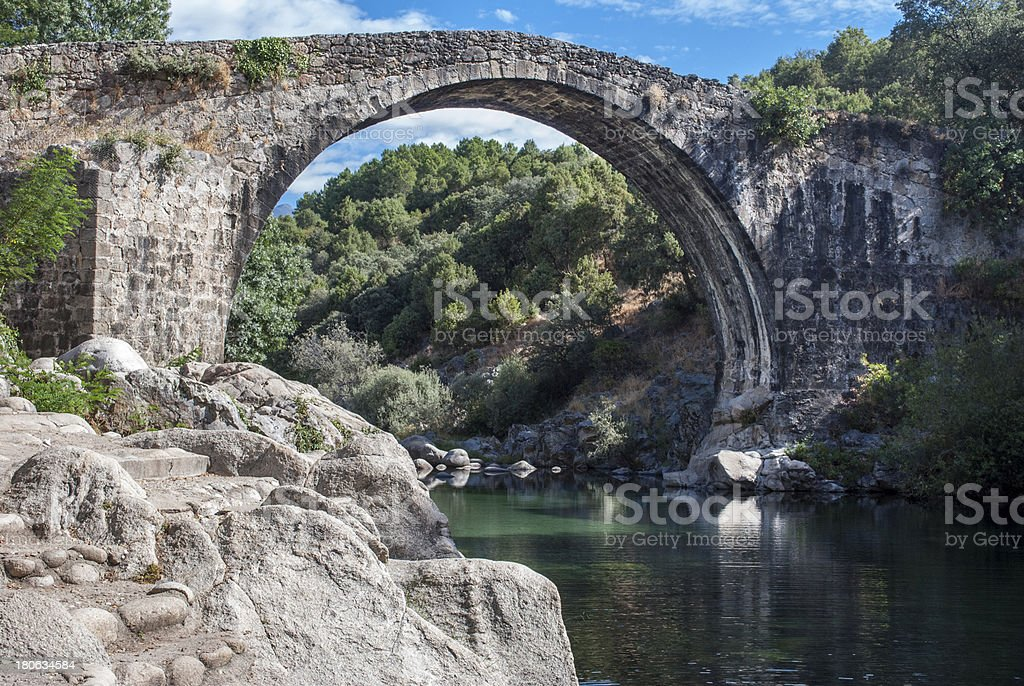 Gredos river pools royalty-free stock photo