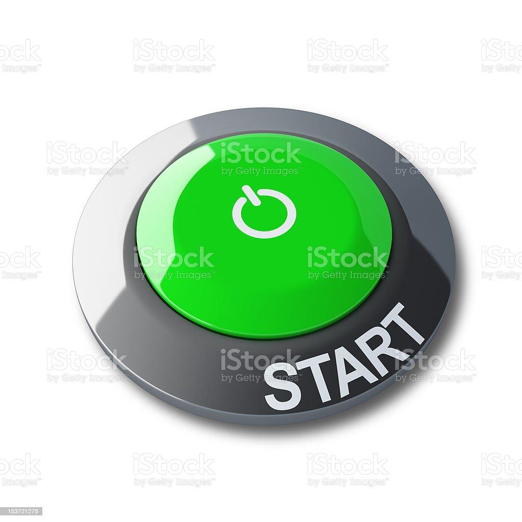 Gree start button royalty-free stock photo