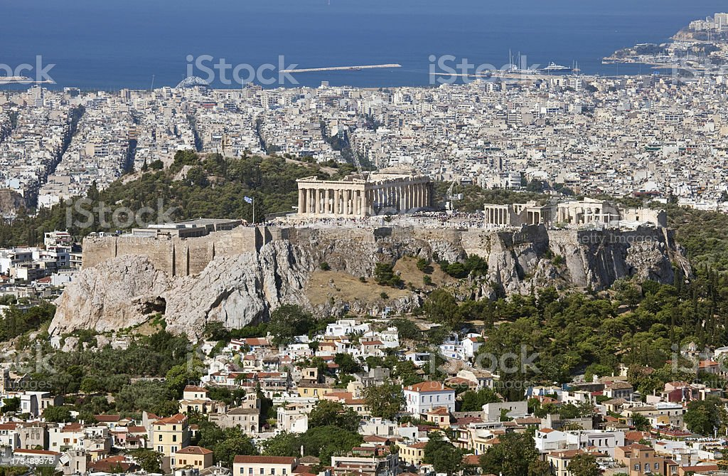 Greece Acropolis royalty-free stock photo