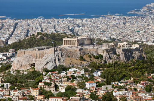 Athens  and Acropolis aerial view