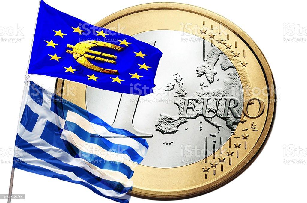 Greece and the European Union stock photo
