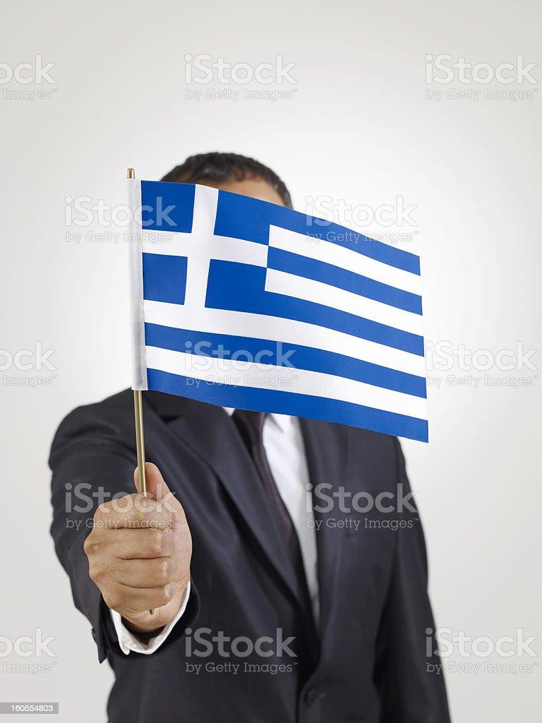 Greece Flag royalty-free stock photo