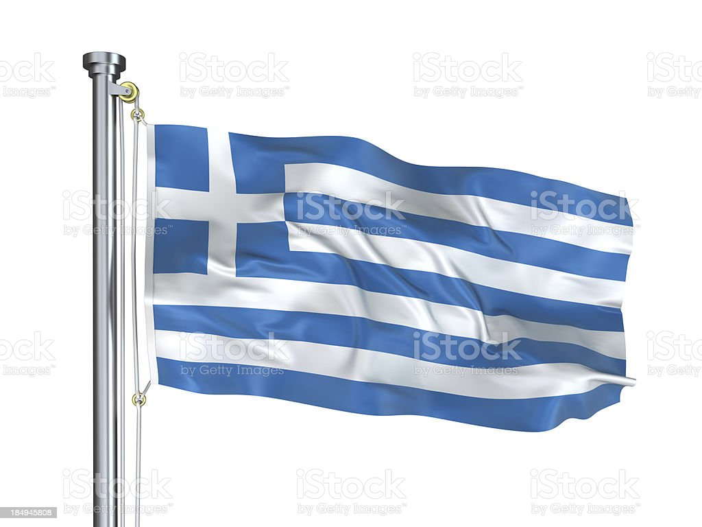 Greece Flag royalty-free stock photo