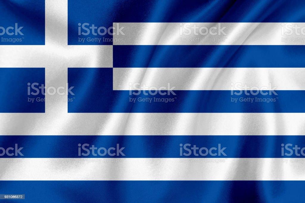 Bandera de Grecia agitando el fondo - foto de stock