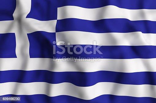 istock Greece flag waving 639466230