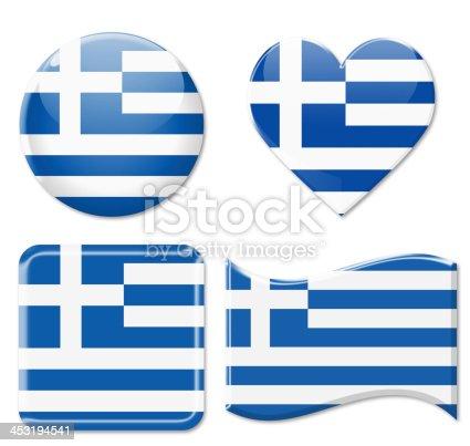 istock Greece Flags & Icon Set 453194541