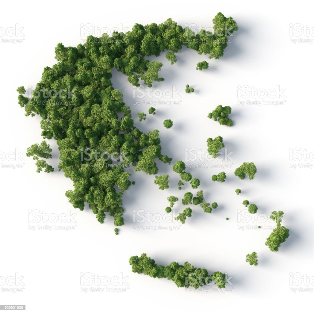 greece forest stock photo