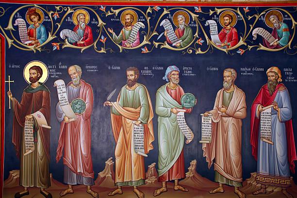 Greece, fresco  religious saint stock pictures, royalty-free photos & images