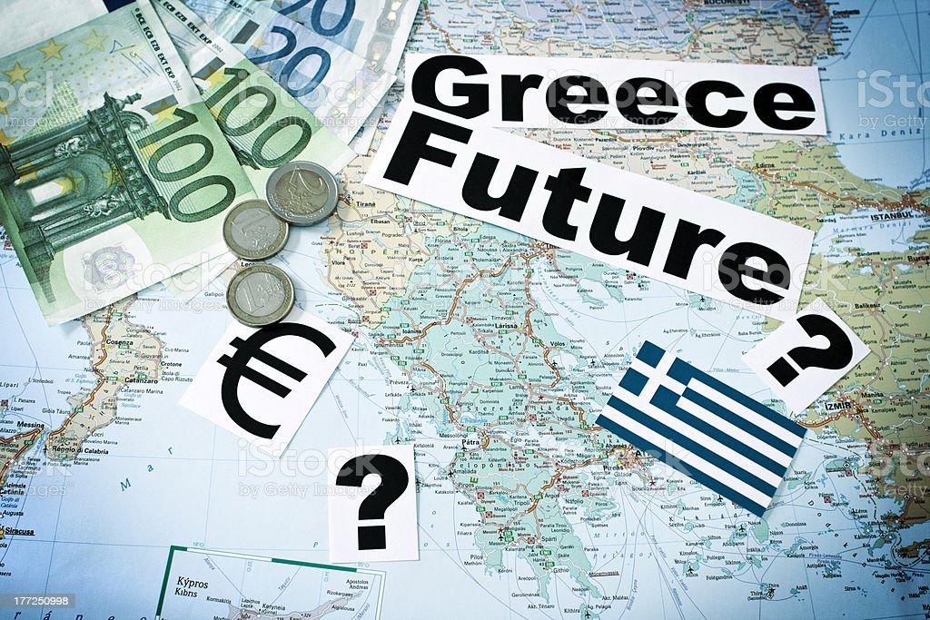 Greece? Future? EURO? stock photo
