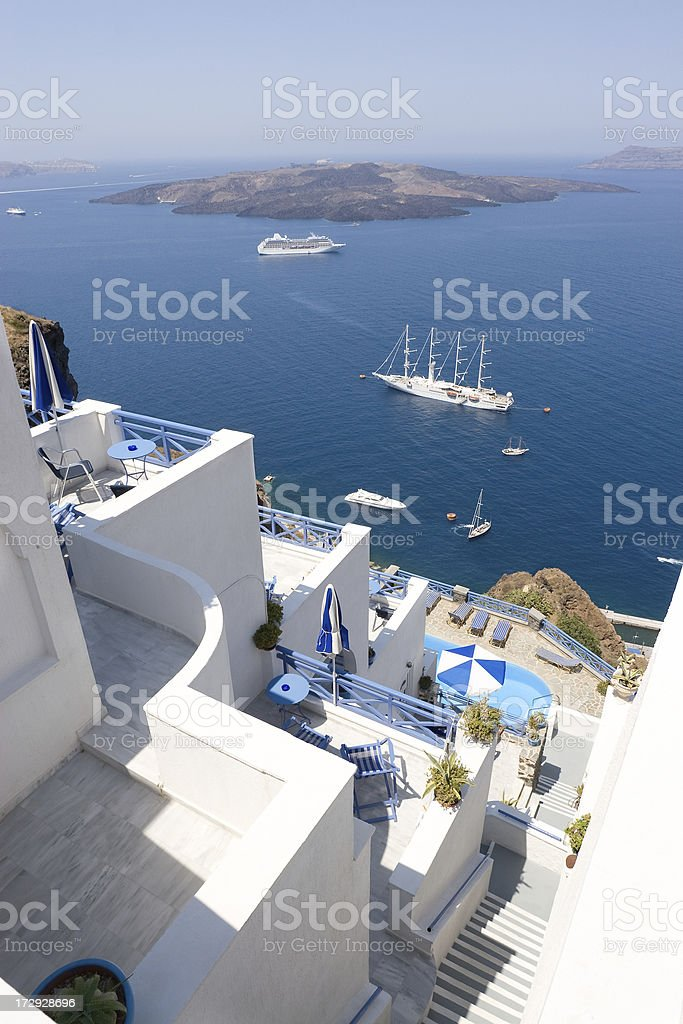 Greece, Idyllic Santorini royalty-free stock photo