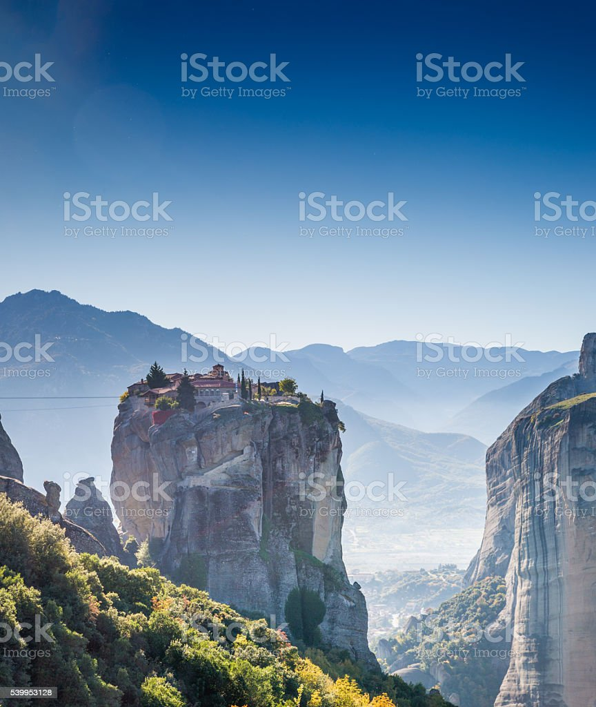 Greece Kalambaka monasteries stock photo