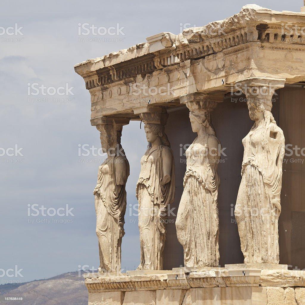 Greece  Landmark of Erechtheum temple royalty-free stock photo