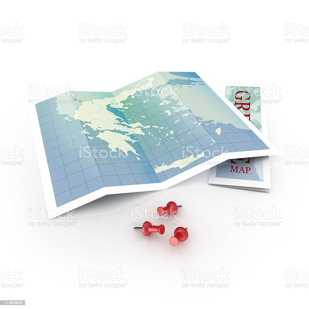 Greece map royalty-free stock photo