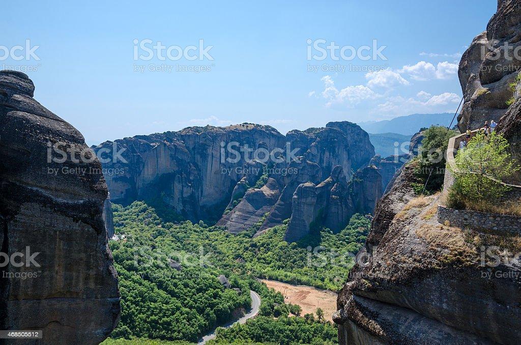 Greece, Meteors, climb to monastery of St. Varlaam stock photo