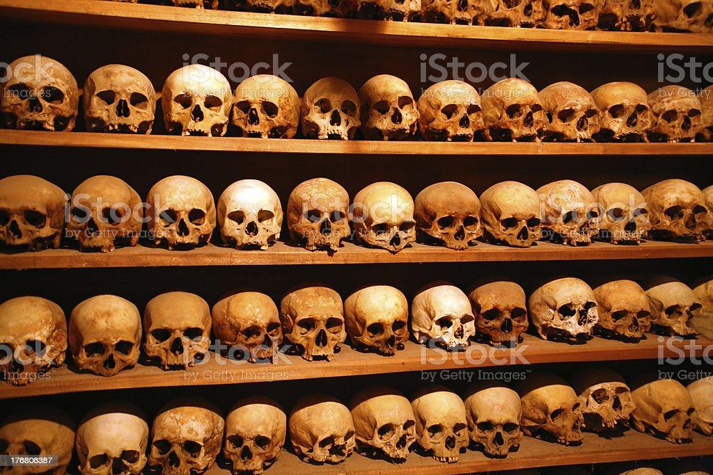 Greece, monks skulls royalty-free stock photo