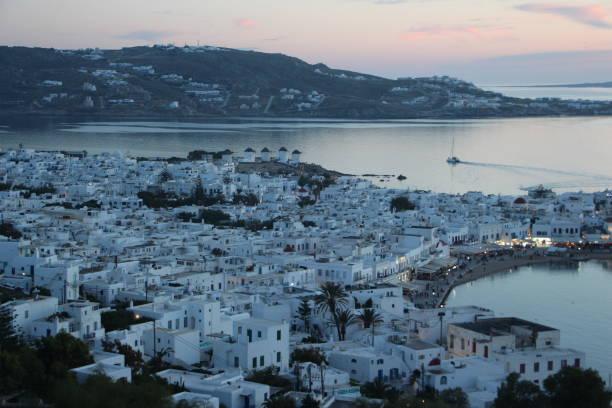 Greece - Mykonos - panorama stock photo