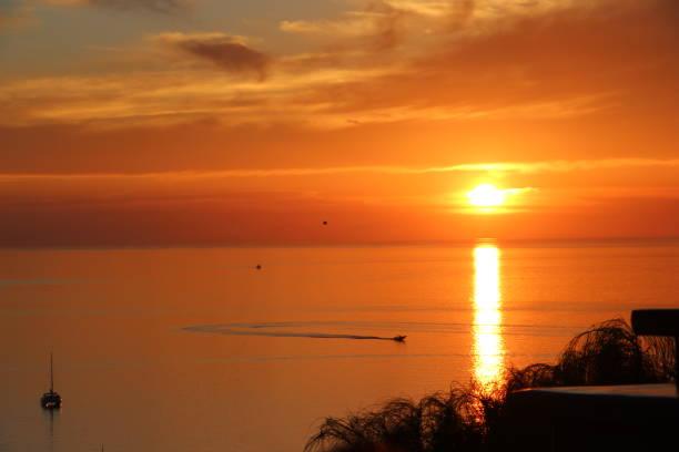 Greece - Mykonos  - sunset stock photo