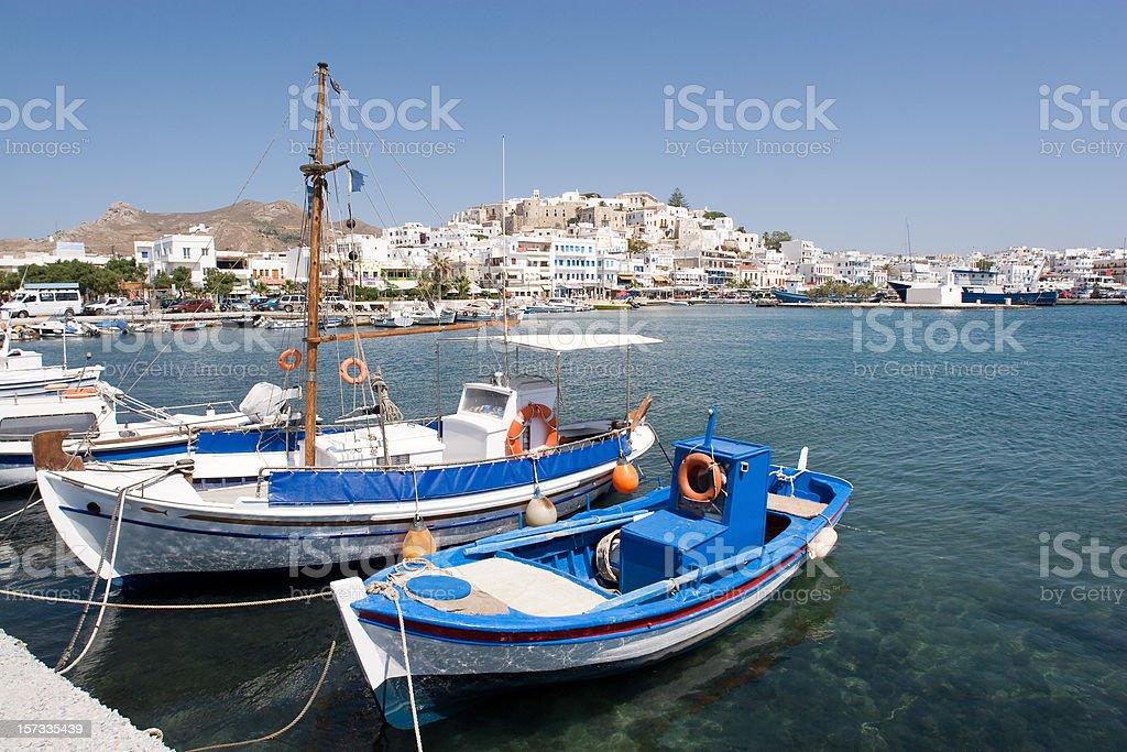 Greece, Naxos Harbour royalty-free stock photo