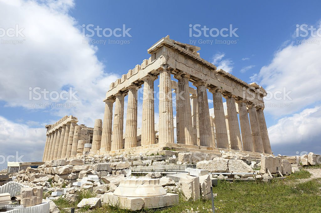 Greece. Parthenon Without Scaffolds. royalty-free stock photo