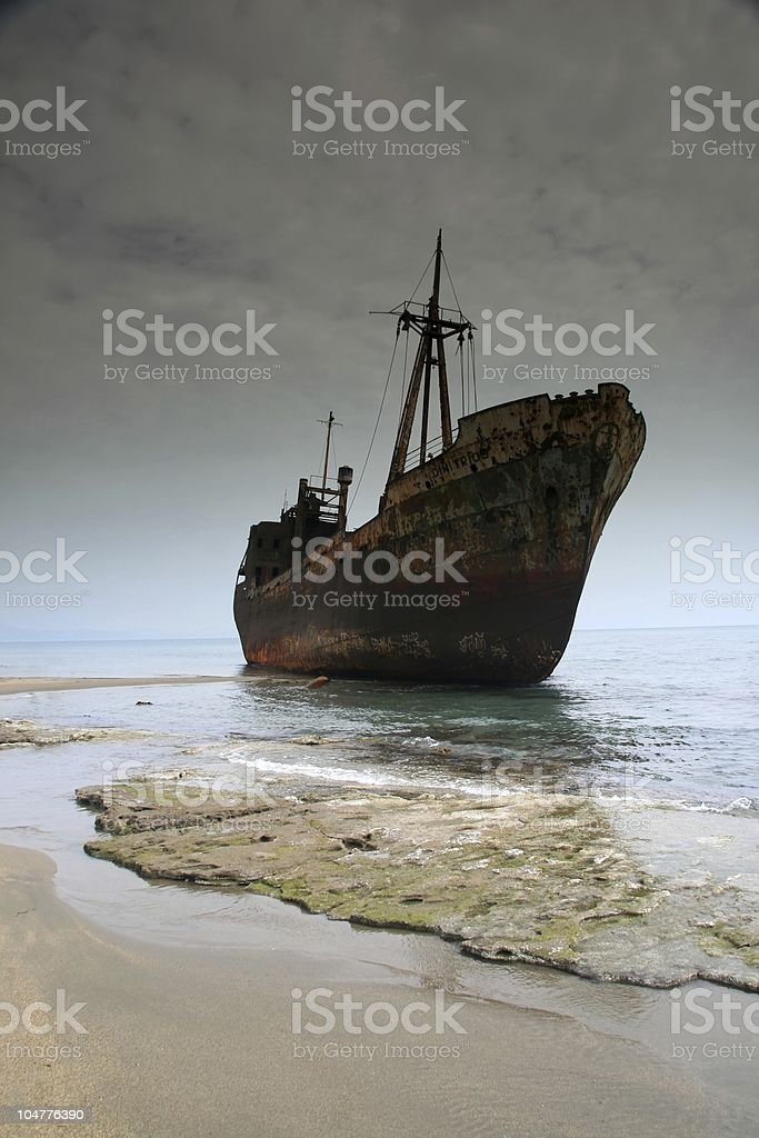 Greece, Shipwreck royalty-free stock photo