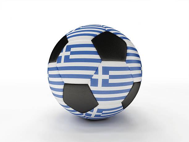 Greece soccer football ball stock photo