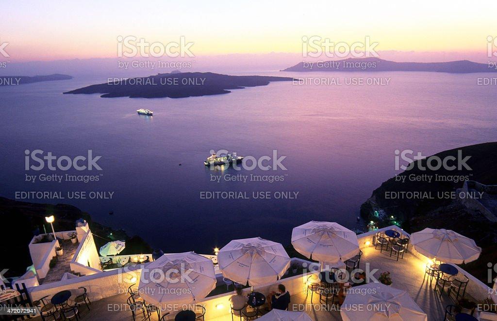 Greece, South Aegean, Cyclades Group, Santorini, Fira. stock photo