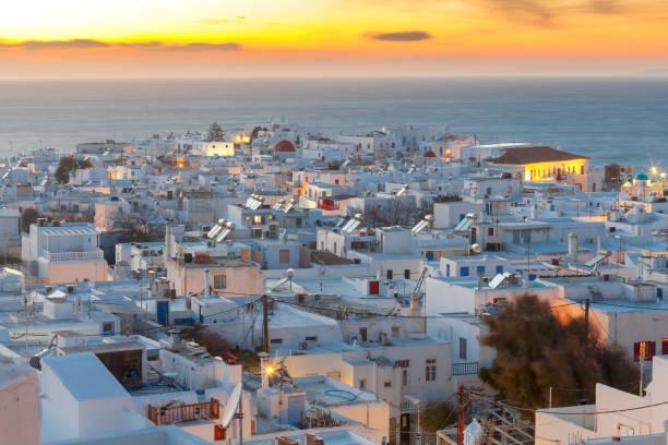 Greece. The island of Mykonos. stock photo