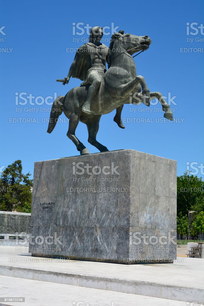 Grécia, Thessaloniki, monumento - foto de acervo