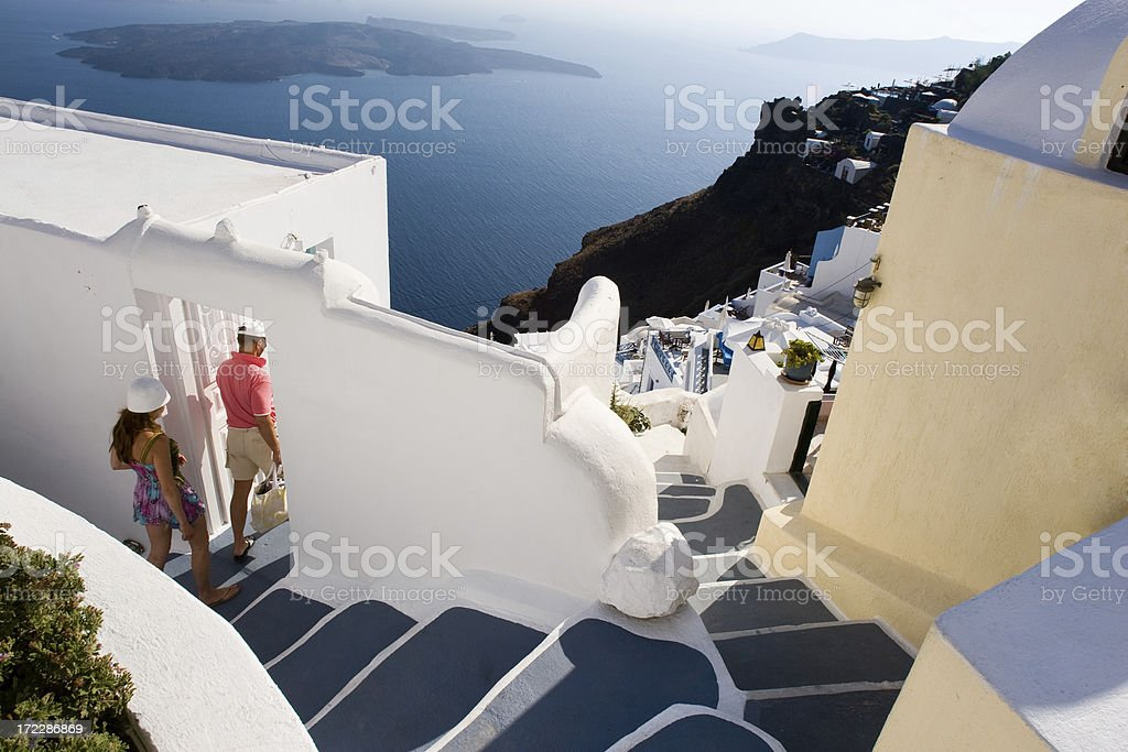 Greece, Vacations in Santorini royalty-free stock photo
