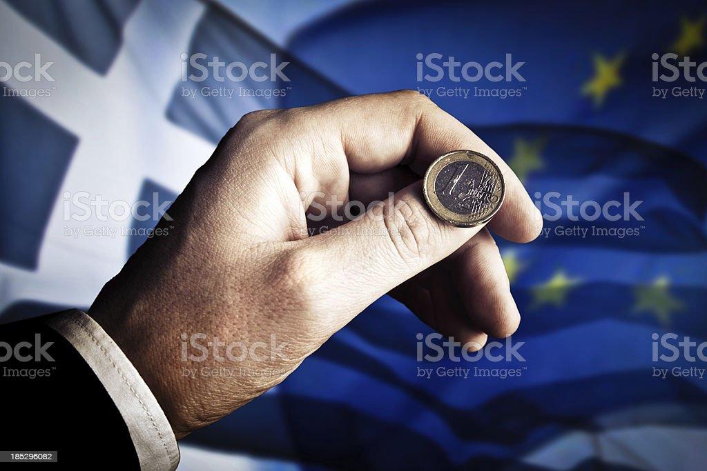 Greece-Euro crisis royalty-free stock photo