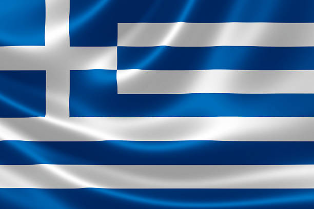 Greece's Flag stock photo