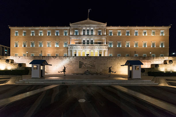 Greece's parliament building. stock photo