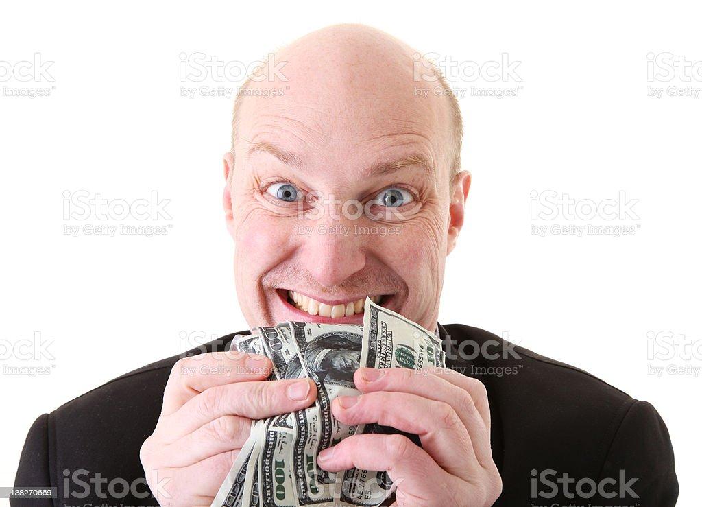 greed avarice dollars stock photo